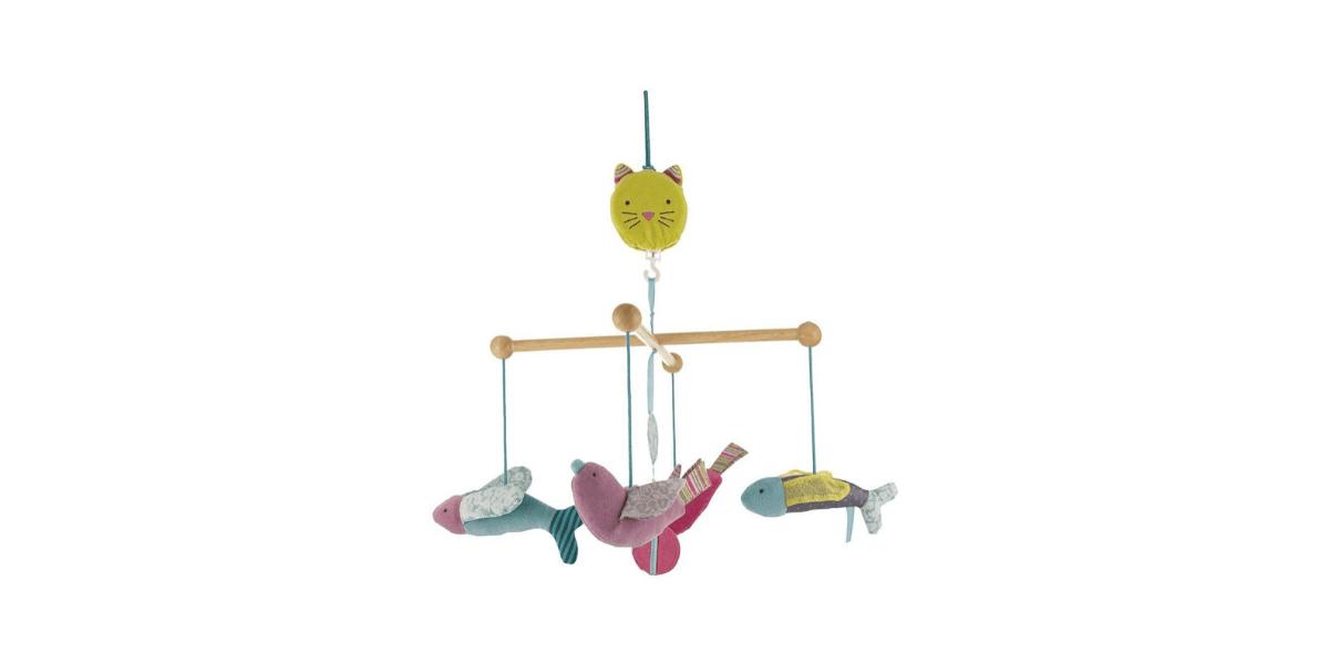 mobile musical bébé marque Moulin Roty