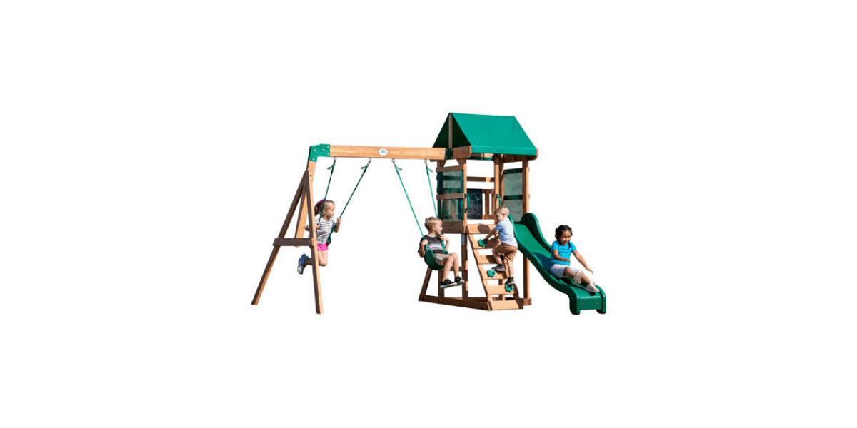 aire de jeux en bois Playset Buckley Hill marque Backyard discovery