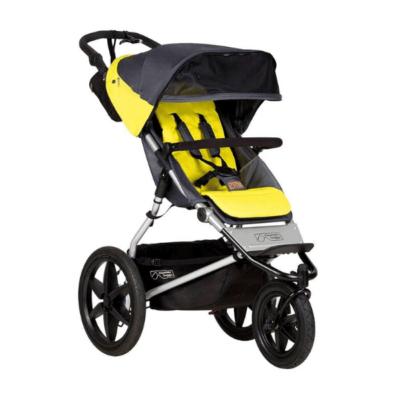 poussette-naissance-3-roues-noir-et-jaune-Terrain-V3-marque-Mountain-Buggy