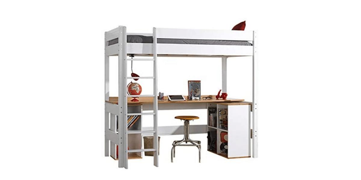 lit mezzanine avec bureau pour enfant marque Akiten Retail