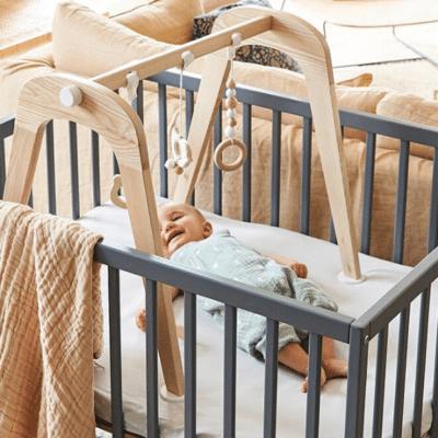 chambre parc bébé vertbaudet Flexipark en bois