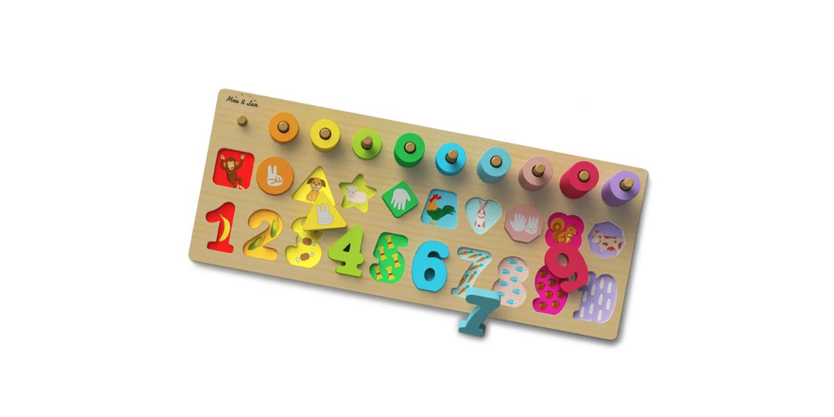 Jeu Montessori Playboard Max et Léa