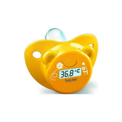 thermomètre jaune en forme de tétine pour enfant