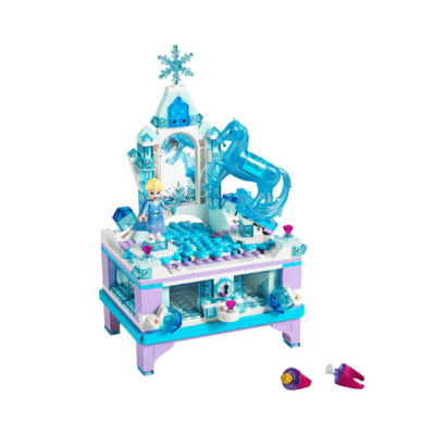 boite à bijoux marque lego avec personnage Elsa sur le dessus