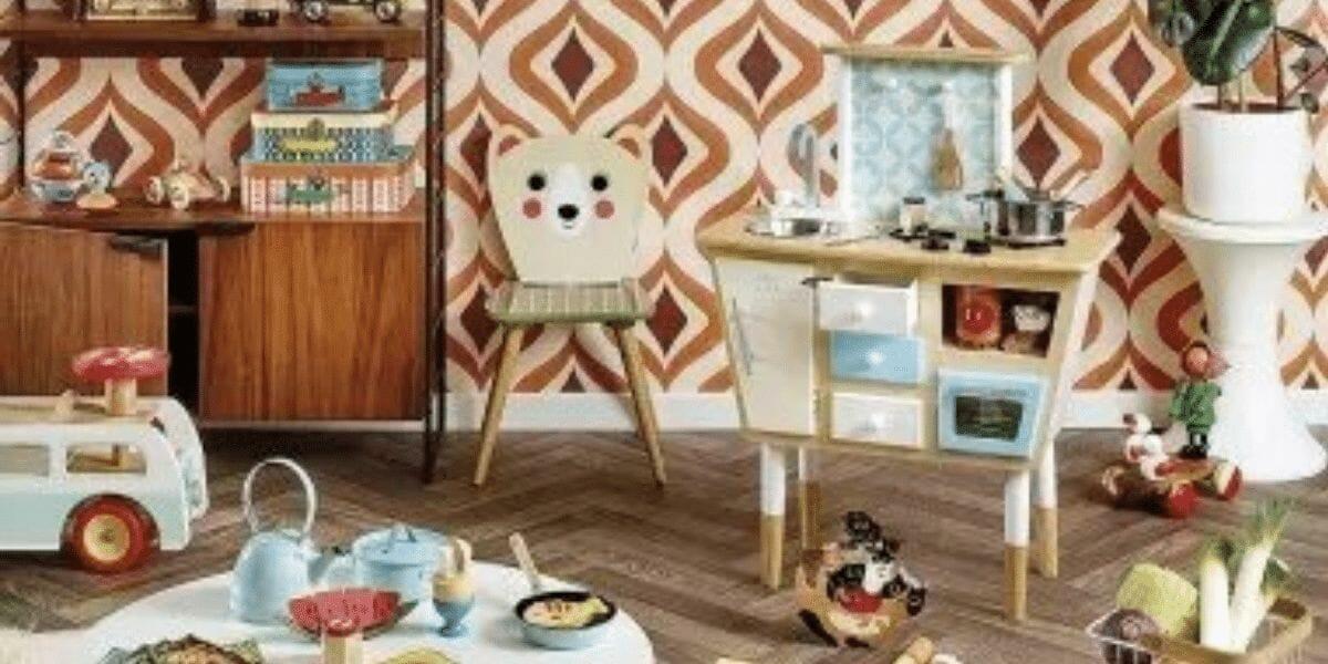 cuisine dans chambre enfant en bois marque vilac