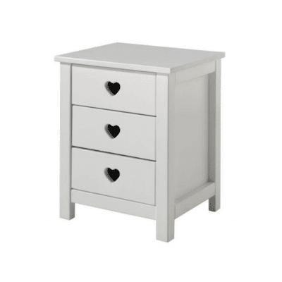 table de chevet en bois blanc pour enfant marque nordic factory