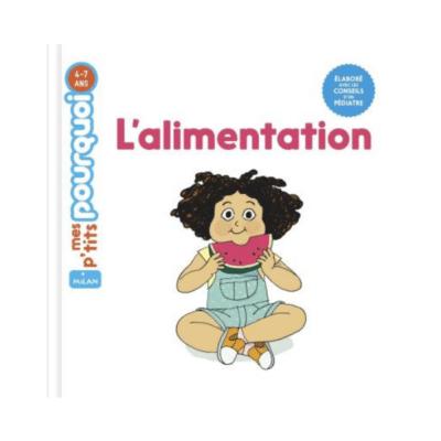 couverture livre enfant l'alimentation