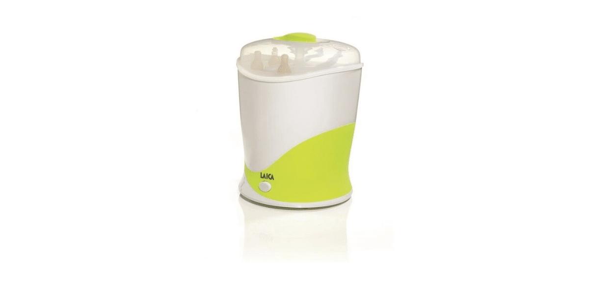 Stérilisateur biberons vert et blanc marque Laica