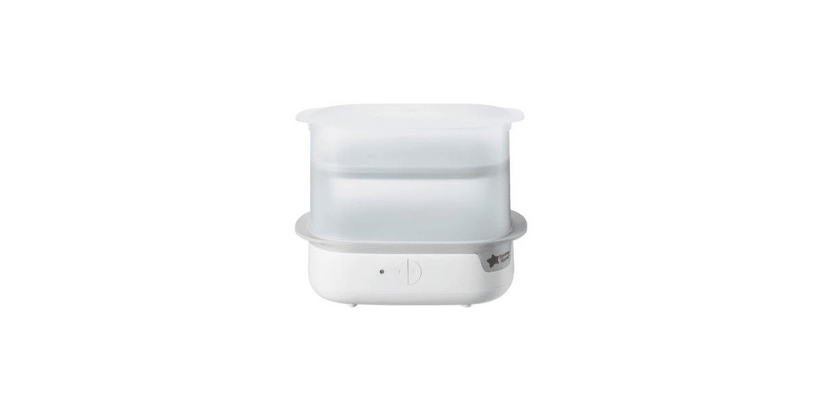 stérilisateur biberon blanc et transparent marque Tomme Tippee
