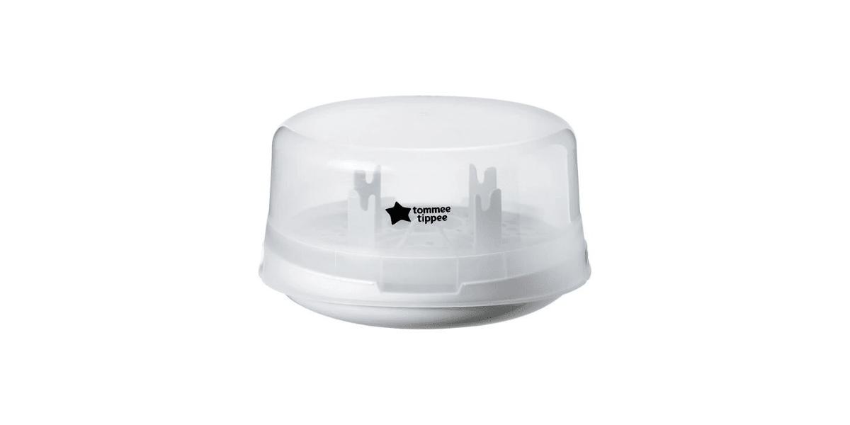 stérilisateur biberon blanc et transparent marque Tommee Tippee