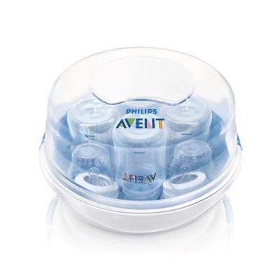 stérilisateur biberon blanc et transparent marque Philips Avent