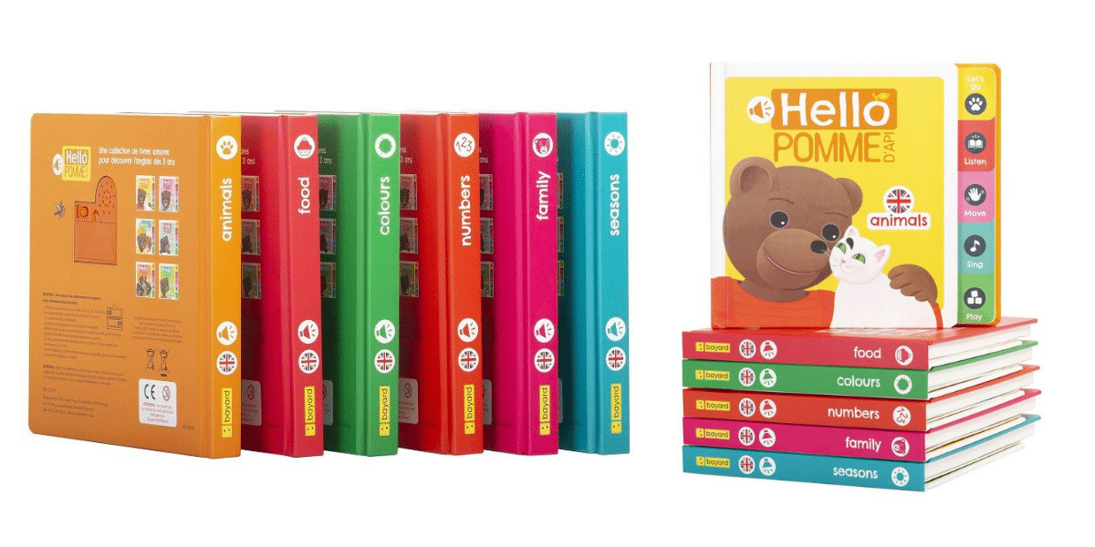 piles de livres sonores pour enfant collection Hello Pomme d'Api