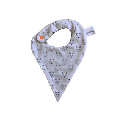 bavoir bandana gris marque Carotte & Cie