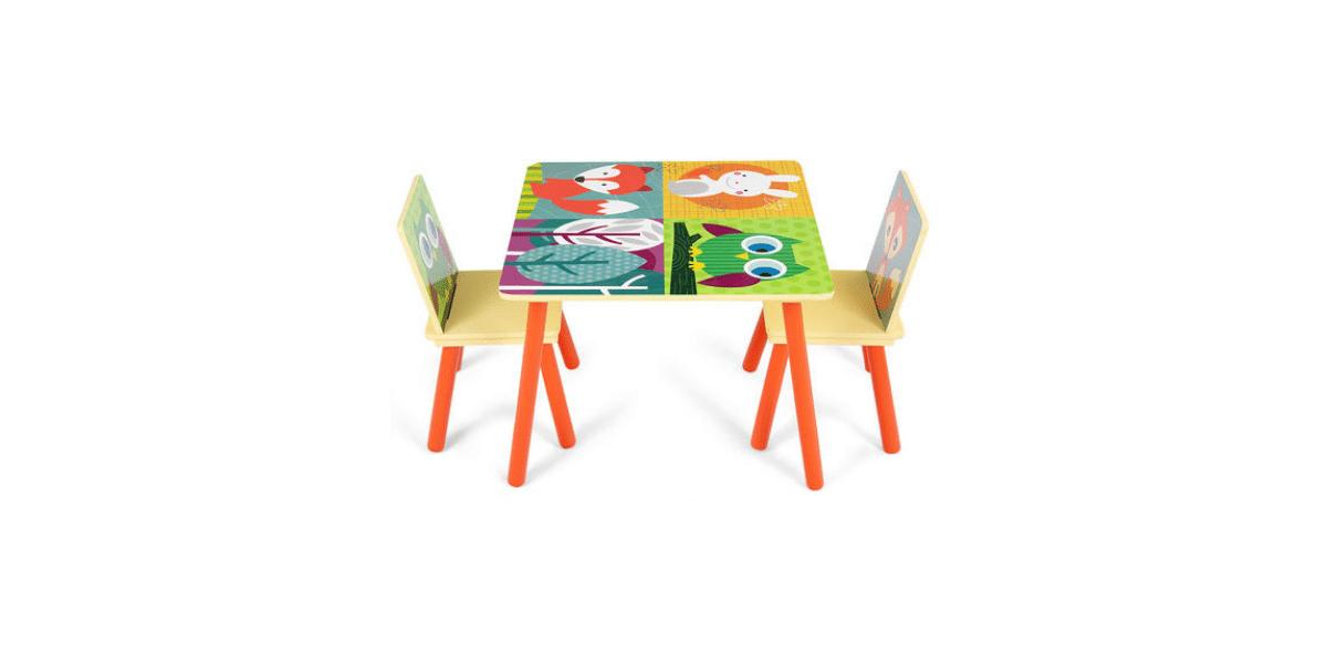 table et chaise enfant colorés marque Costway