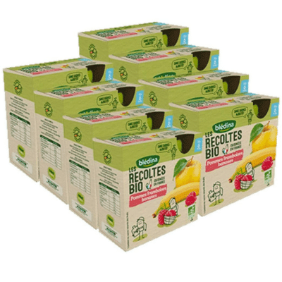 lot 24 gourdes de fruits marque blédina