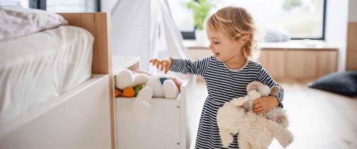 chambre d'enfant avec bébé