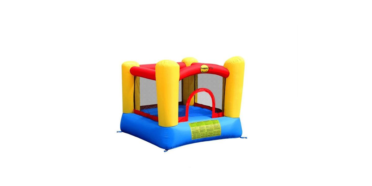 aire de jeux gonflable chateau jaune marque Happy Hop