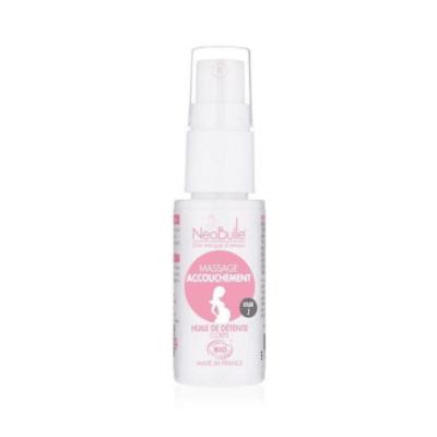 huile de massage pour l'accouchement marque Neobulle
