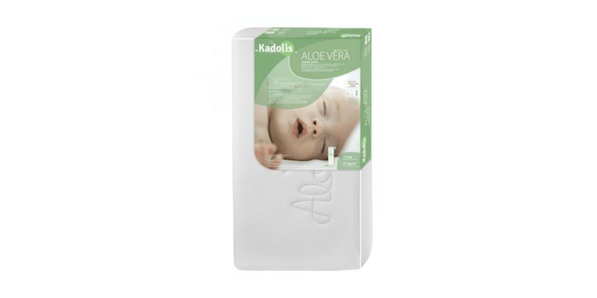 matelas bio bébé à l'Aloe Vera marque Kadolis