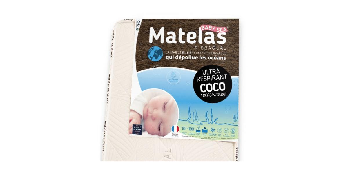 matelas bio bébé coco et Seaqual marque No Stress
