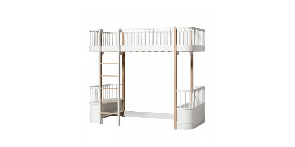 lit mezzanine blanc et en bois marque oliver furniture