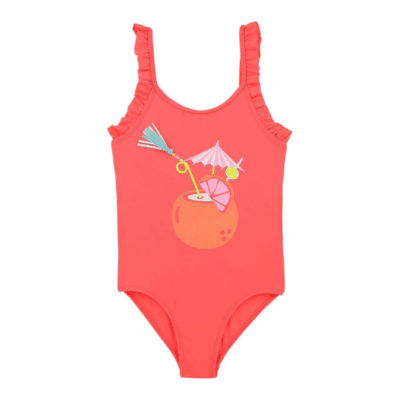 maillot de bain 1 pièce rose marque Billieblush