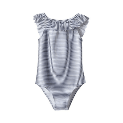 maillot de bain bleu rayé marque cyrillus