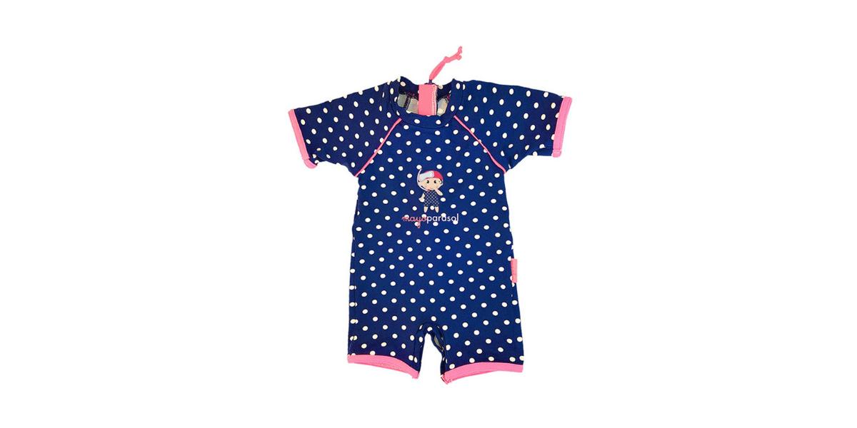 maillot de bain bleu genre combinaison pour bébé marque mayoparasol