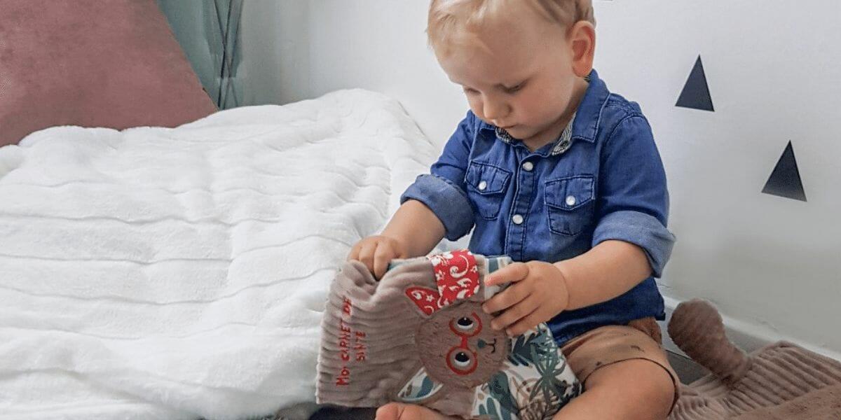 bébéavec un protège carnet de santé