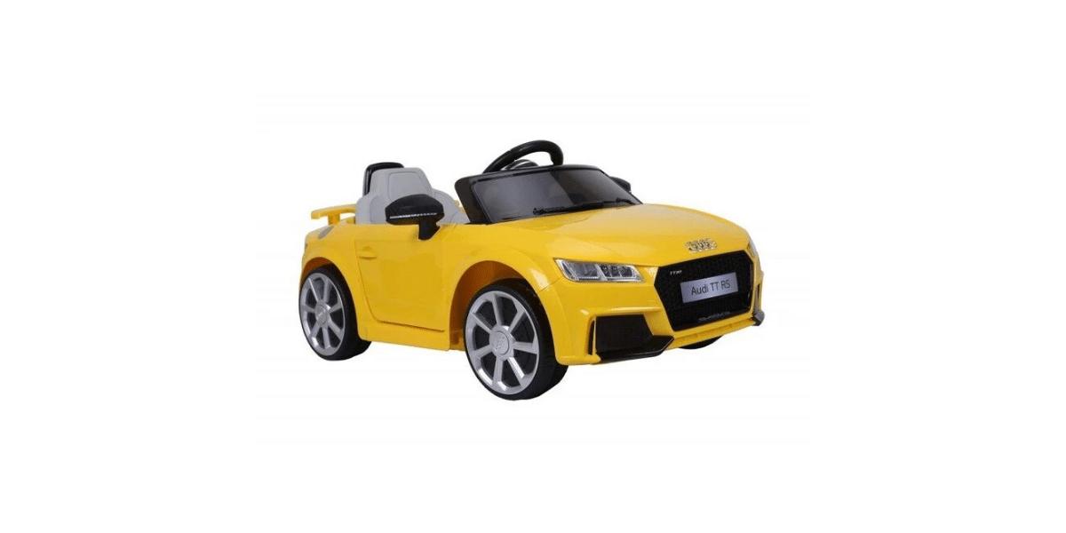 voiture électrique enfant jaune marque Audi
