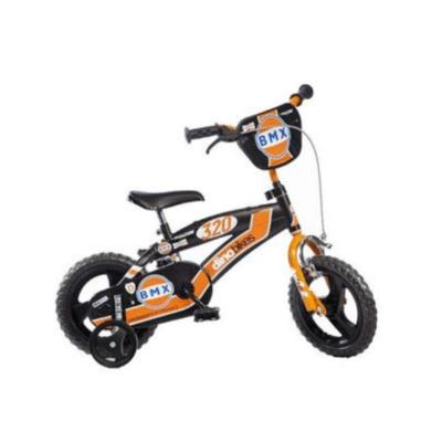 vélo enfant 12 pouces orange et noir marque Dinobikes