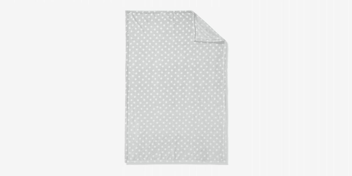 couverture bébé grise et blanche marque vertbaudet