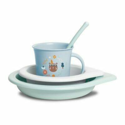 Set-vaisselle-bebe-Suavinex-Foret-bleu