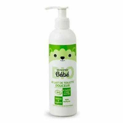 lait-toilette-bébé-monoprix-bio